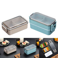 US-Microwave Heating Lunch Box Leak-Proof Picnic Divided Storage Bento Container