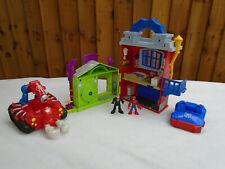 Imaginext Spiderman & Green Goblin House Playset Scorpion Car Superman Figures