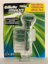Gillette Mach3 Sensitive Rasierer mit 4 Klingen Rasierklingen TOP ANGEBOT