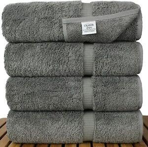 GREY 100% EGYPTIAN COTTON TOWEL BALE SET 10 PC HAND FACE BATH SHEET BATHROOM