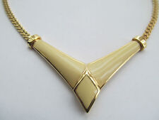 CHRISTIAN DIOR SIGNED GOLD PLATED AND ENAMEL CHOKER STYLE NECKLACE