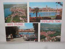 Vecchia cartolina foto d epoca di Sesto Calende Castelletto Ticino mare veduta