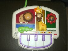 FisherPrice baby crib toddler battery operated piano along with other noises