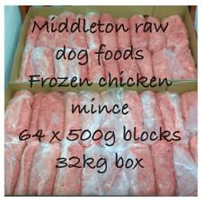 More details for frozen dog food  chicken mince 64x 500g bags 32kg box. barf raw diet delivered