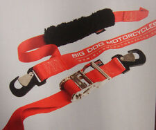 """PAIR BIG DOG MOTORCYCLES BIG DADDY 2"""" DELUXE TIE DOWN STRAPS W/ LOGO RATCHET"""