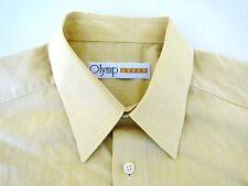 Olymp Luxor Herren Hemd Kurzarm Gelb Unifarben KW44
