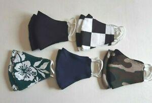 Handmade face mask. Black, Camo. Reusable, washable, breathable, lightweight