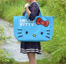HelloKitty Blue Shopping  Handbag Tote Shoulder Bag 2017  New  Bow Big Size