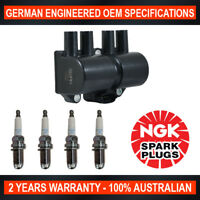 4x Genuine NGK Spark Plugs & 1x Ignition Coils for Holden Combo XC