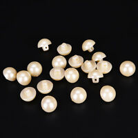 20PCs pearl white resin buttons coat boots sewing clothes accessories BSIJ