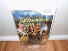 Lord of the Rings: Aragorn's Quest (Nintendo Wii, 2010) Case Broken - STILL NEW