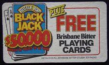 Brisbane Bitter Rip Us Off For A Prize Black Jack $50,000 Coaster (B1817)