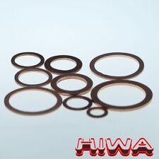 50x Dichtringe 15x20x1,5 aus Kupfer DIN 7603A