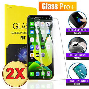 2x Tempered Glass Screen Protector For Apple iPhone 12 11 Pro XS Max XR 7 8 Plus