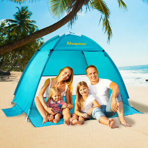 Beach Umbrella Outdoor Sun Shelter Cabana Pop-Up UV50+ Sun shade, 2-3 people
