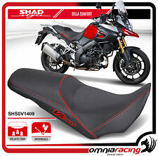 Shad Selle Confort Noir avec Coutures Rouges pour Suzuki GSR 750 2011 >