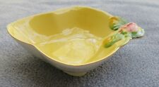 Royal Winton Yellow Rosebud Rose Flower Handled Bonbon Serving Bowl England