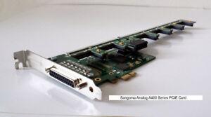 Sangoma A40308E 6FXS 16FXO analog card - PCIe
