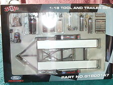 "GMP/ACME DIECAST METAL CAR CARRIER TRAILER w GARAGE TOOL SET  1/18 ""FORD"""