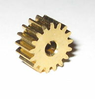 Brass 17 Tooth Gear for 2.0 mm Shafts - 17T - 2 mm - 7.6 mm OD Pinion Gears