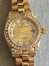Ladies Valentino Domani Milano Gold Tone Watch w/ Crystals VD-2007