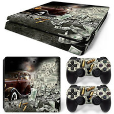 PS4 Slim Playstation 4 Console Skin Decal Sticker Gangster Custom Design Set
