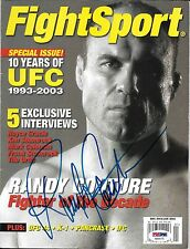 Randy Couture Signed Fight Sport 2003 2004 MMA Magazine PSA/DNA COA UFC Auto'd