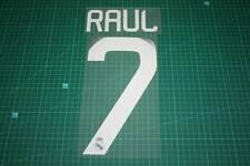 Real Madrid 08/09 #7 Raul Awaykit / 3rd Awaykit Nameset Printing