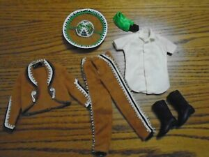 """Vint. 1964 """"KEN"""" Mexico Outfit---Barbie Doll -Near Complete Missing Tie/Travel B"""