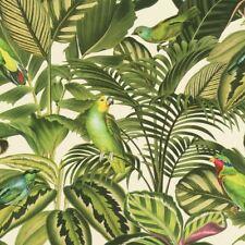 Freundin Tropical Loro Papel Pintado Verde / Crema - Rasch 439533