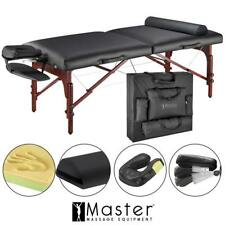 Master 31� Montclair Portable Folding Massage Table Pro Package Case- Black