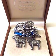 Vintage Kitzbuhel Pewter Brooch Pin