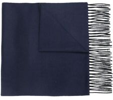 Lanvin Cashmere Scarf Navy & Prussian Blue Two Tone Reversible 180 x 36cm