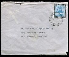 Sudan, 1947, Air Mail Cover from Malakal to Maryland, Usa, tied with 6 piastre