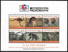 Australia 1994 Philakorea '94 Kangaroo & Koala Marsupial Stamps Souvenir Sheet