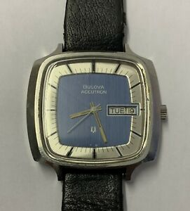 Vintage Gents Bulova Accutron 70s? Stainless Steel Case Not Working