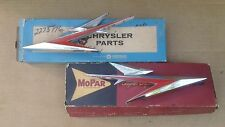 NOS MoPar 1961 Dodge Dart Pioneer Phoenix Seneca FRONT FENDER MEDALLION PAIR