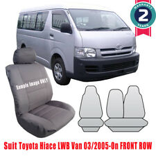 New Toyota Hiace LWB Van Tailor Made Car Seat Cover Cool Grey 2005-on Front Row