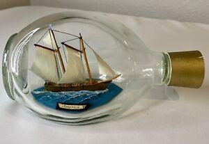VTG America Ship Model in Haig Haig Whiskey Bottle- Made in England Label - Mint