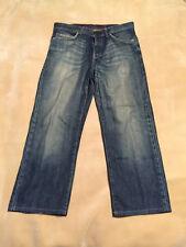 "Uomo Ben Sherman Jeans RELAXED FIT Taglia 34"" girovita, 28"" Gamba stato indossato"