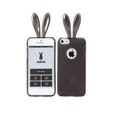 Rabito Bunny Rabbit Ear iPhone 5S 5 Black Cute Protective Gel Skin Cover Case
