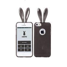 Rabito Conejo Oreja Iphone 5s 5 Negro Lindo Gel Protector Skin Funda Protectora