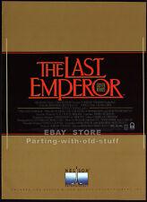 THE LAST EMPEROR__Orig. 1988 Trade print AD 4pg promo__PETER O'TOOLE__JOHN LONE