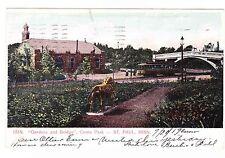 Gardens And Bridge Como Park St. Paul Minnesota 1907 Postcard