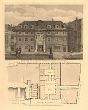 BLACKWELL HALL. Basinghall/Cateaton/King Streets, Cheapside. London 1834 map