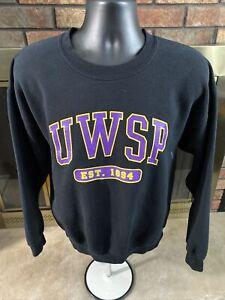 UWSP University of Wisconsin Stevens Point Pointers Arch Crewneck Pullover Sweatshirt Sweater White