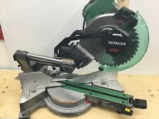 "Hitachi C10FSHC Saw, Miter 10"" Dual Bevel Sliding Compound Miter Saw with Laser"