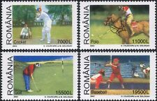 Romania 2002 Golf/Cricket/Polo/Horse/Baseball/Sports/Games 4v set (s798)