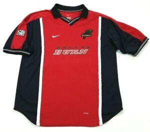 Vintage Nike MLS Dallas Burn 2000 Red Soccer Futbol Jersey XL Mens Made in USA