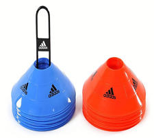 Official adidas Agility Speed Training Discs Cones 30 Pack Football Soccer